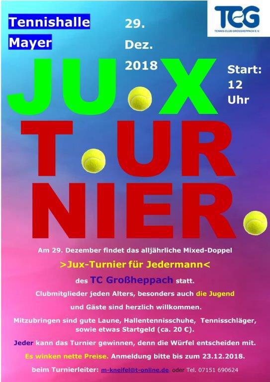 Rückblick JUX-Turnier 2018
