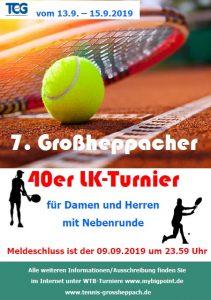Rückblick 7. Großheppacher 40er-Turnier