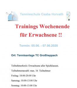 Trainingswochenende