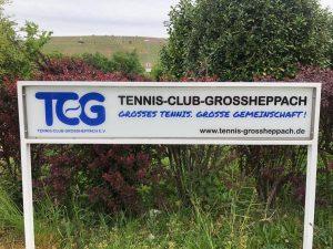 Neues TCG Schild