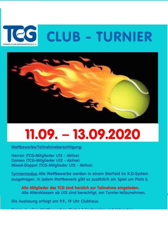 Clubturnier 11. – 13.09.2020