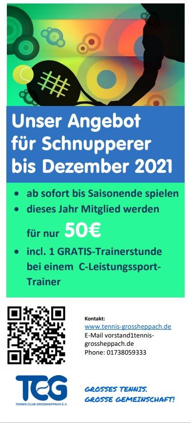 Schnupperangebot 2021