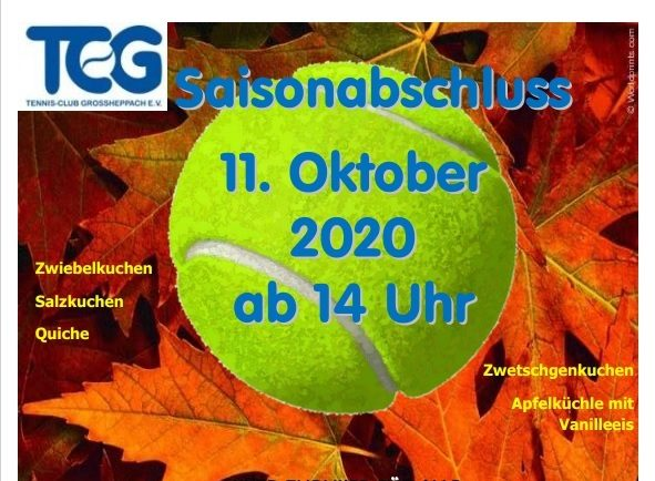 Saisonabschluss 11. Oktober 2020