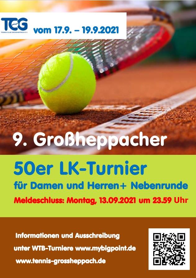 50er LK Turnier 17.-19.09.2021
